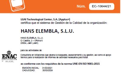 ISO 400x250 - Noticias